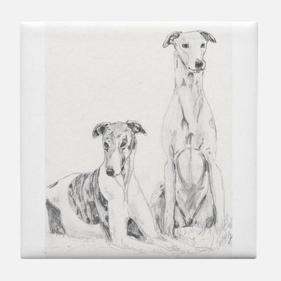 Tile Coaster Greyhounds