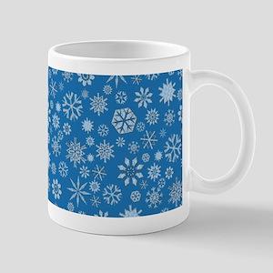 Icy Blue Snowflakes Mug
