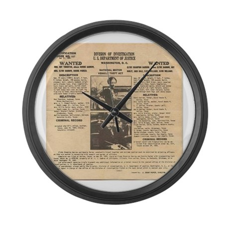Bonnie & Clyde Large Wall Clock