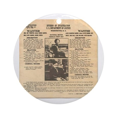 Bonnie & Clyde Ornament (Round)