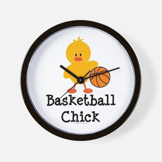 Basketball Chick Wall Clock