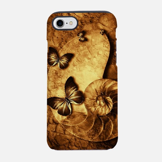 Butterflies and Shell Fossil iPhone 7 Tough Case