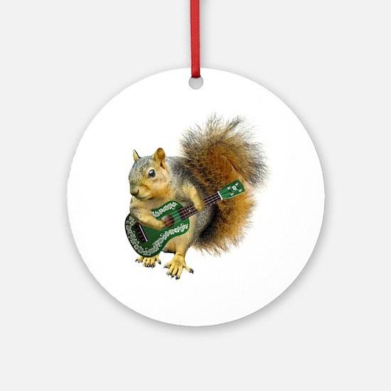 Squirrel Ukulele Ornament (Round)