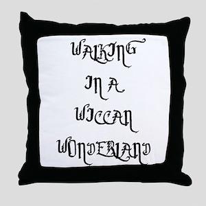 Wiccan Wonderland Throw Pillow