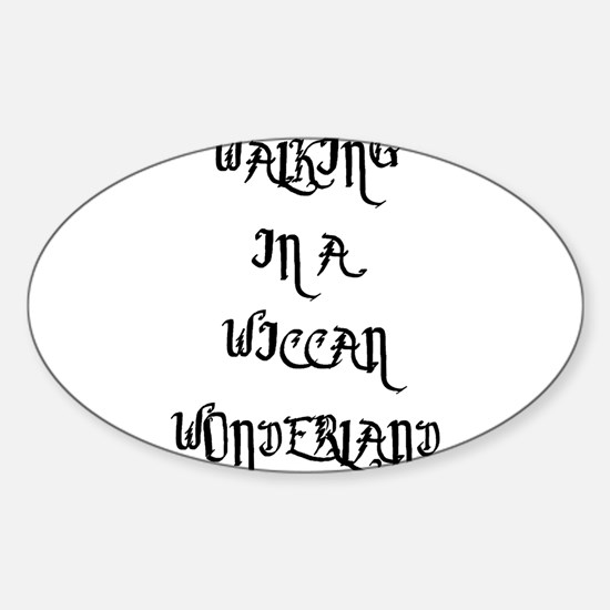 Wiccan Wonderland Oval Decal