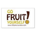 Go Fruit Yourself! (for white BG) - Hi-Res Sticker