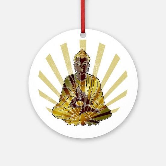 Riyah-Li Designs Vintage Buddha Ornament (Round)