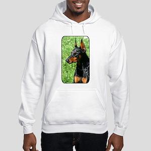 Doberman Pinscher Dog Hooded Sweatshirt
