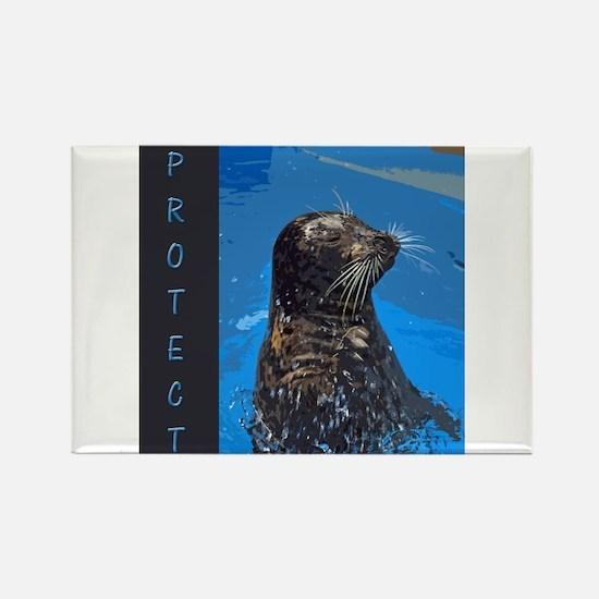 Harbor Seal Rectangle Magnet