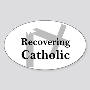 Recovering Catholic Oval Sticker