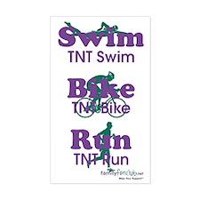 TNT Triathlon Rectangle Sticker