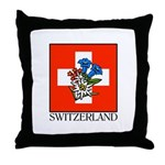 Alpine flowers Throw Pillow