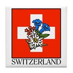 Alpine flowers Tile Coaster
