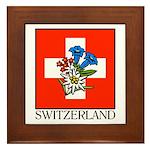 Alpine flowers Framed Tile
