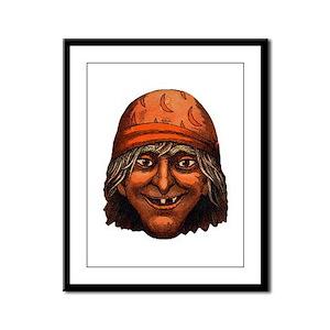Vintage Gypsy Witch Framed Panel Print
