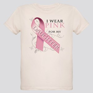 I Wear Pink for my Daughter Organic Kids T-Shirt