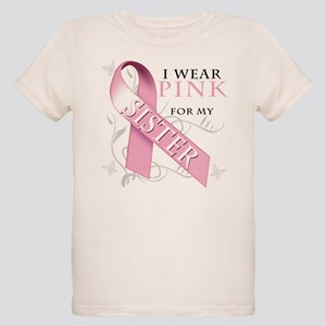 I Wear Pink for my Sister Organic Kids T-Shirt