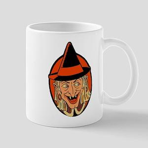 Retro Sneaky Witch Mug