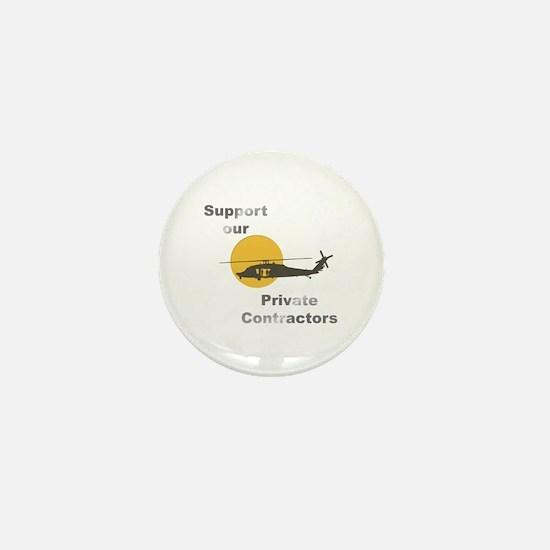 Support our Private Contractors Mini Button