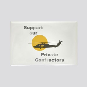 Support our Private Contractors Rectangle Magnet