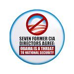 """Seven CIA Directors 3.5"""" Button"""