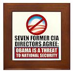 Seven CIA Directors Framed Tile