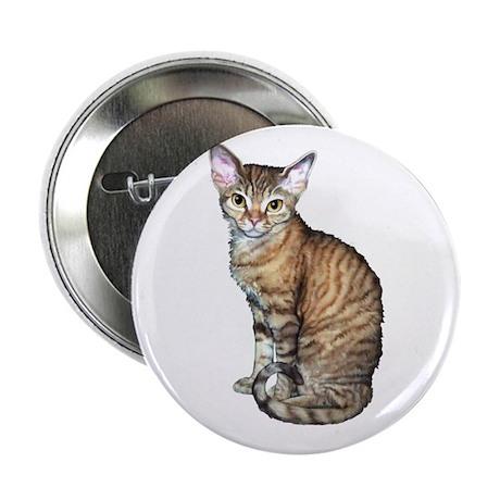 """Devon Rex Cat 2.25"""" Button (10 pack)"""