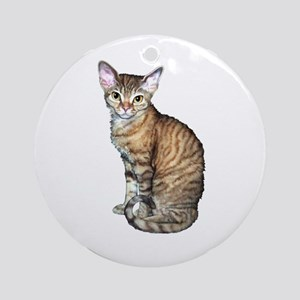 Devon Rex Cat Ornament (Round)
