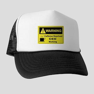 Caffeine Warning CEO Trucker Hat