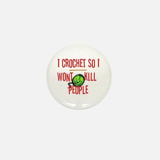 Funny Crocheter Mini Button