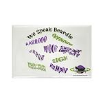 We Speak Beardies Rectangle Magnet (100 pack)
