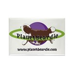 PlanetBeardie Brown Beardie L Rectangle Magnet (10
