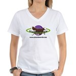 PlanetBeardie Brown Beardie L Women's V-Neck T-Shi