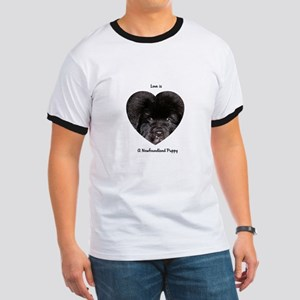 Love is a Newfoundland Puppy Ringer T