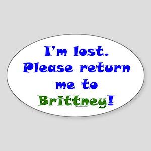 Return me to Brittney Sticker (Oval)