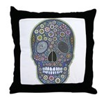 Millefiori Skull Throw Pillow