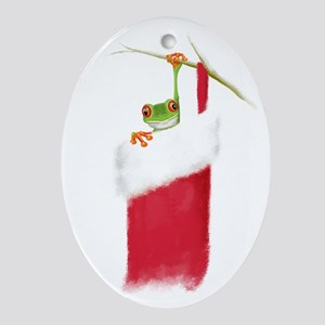 Hoppy Holidays Oval Ornament