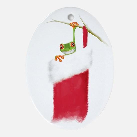 Hoppy Holidays Oval Ornament