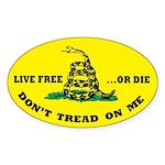 Don't Tread On Me Sticker w/ Live Free or Die (y)