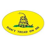 Don't Tread On Me Oval Sticker B