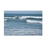 ocean waves with verse Mini Poster Print