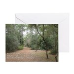 woods, comforting verse Greeting Card