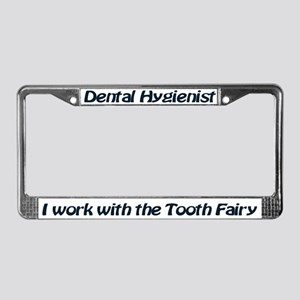 License Plate Frame Dental Hygieist Tooth Fairy