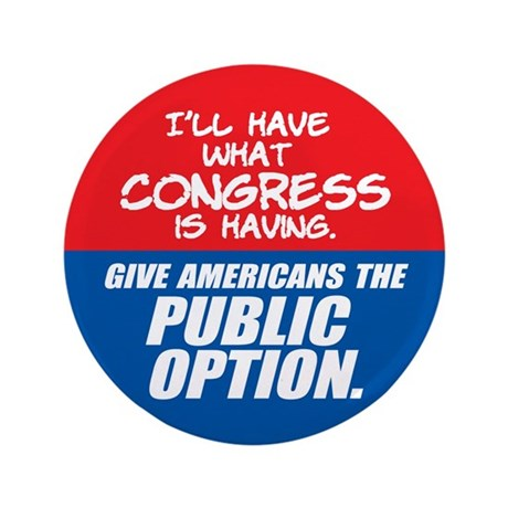 SUPPORT THE PUBLIC OPTION Button