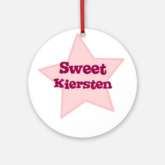 Sweet Kiersten Ornament (Round)