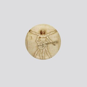 The Vitruvian Rock God Range Mini Button