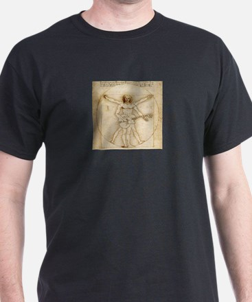 The Vitruvian Rock God Range Black T-Shirt