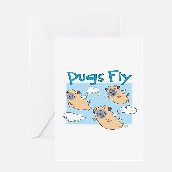PUGS FLY Greeting Card