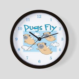 PUGS FLY Wall Clock