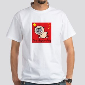 HAPPY PUG White T-Shirt